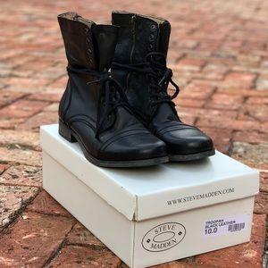 Steve Madden Troopah Boots Black Size 10